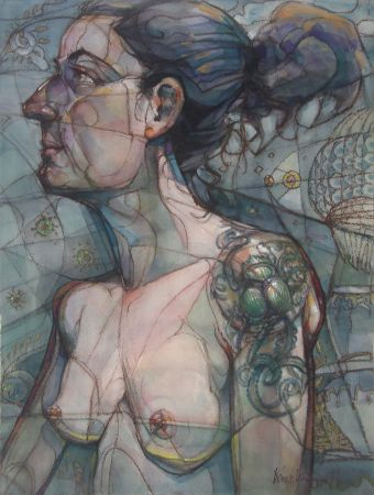 Kam Lai, Woman with Bug Tatoo, Winsor Newton Award - $500
