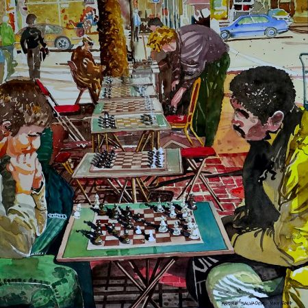 Andre Salvador, Chess Match on Market St. SF, 1st Place - John Muir Show
