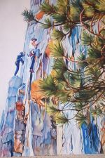 Sue Matthews, Scaling Granite, 2nd Place - Alameda Library Show