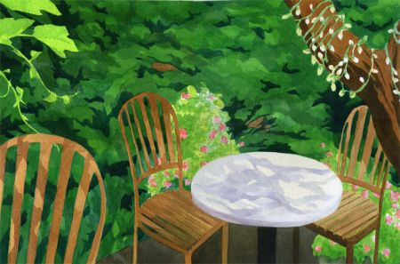 Sara Khan, Tucker's Ice Cream Backyard, Honorable Mention - Alameda Library Show