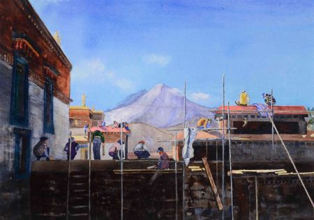 Jane Nielson, Roof of the World, 2nd Place - Alta Bates Show
