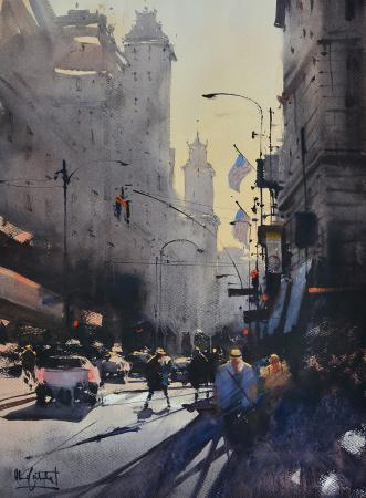 Alvaro  Castagnet , 5th Ave. NY, Arnold Grossman Memorial Award, CWA 49th National Exhibition