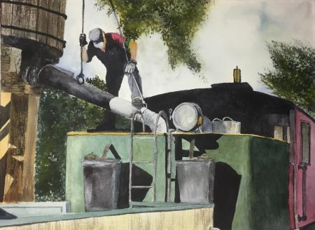 Grace Castro, Train engineer, Third Place Dominican University. Explore Color. Discover Color.