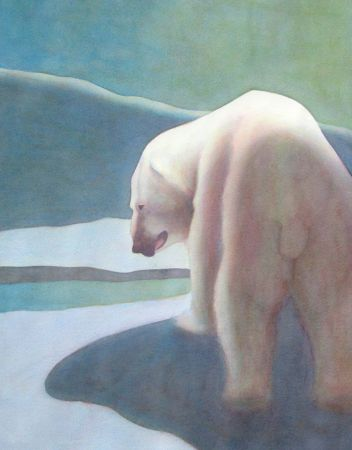 Carol Lutz, Polar Bear, Honorable Mention - 2012 Show at 48 Natoma