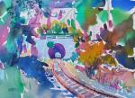Jane Sneed, Point Richmond Train Tunnel, First Place Dominican University. Explore Color. Discover Color.