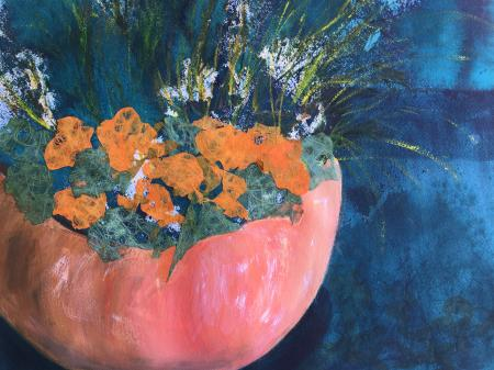 Lorraine Prinzing, Pumpkin Pot, Honorable Mention Lindsay Dirkx Brown - Change of Seasons