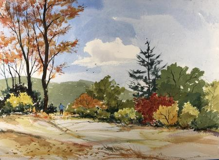 Michael Friedland, Walking into Autumn, Honorable Mention San Ramon City Hall Gallery