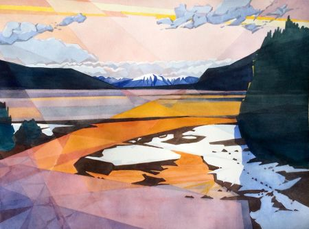 Robert Davidson, Alpine Glow at Donner Lake, Honorable Mention