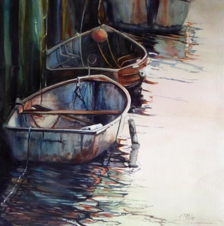 Ruth Miller, Brighton Boats, First Place Award, Delta Gallery