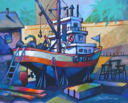 David Broad, Sausalito Dry Dock, 1st Prize Lindsay Dirkx Brown Show 2013