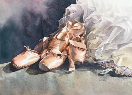 Tia Kratter, En Pointe, Strathmore and Golden Artist Colors Inc. Award CWA 49th National Exhibition