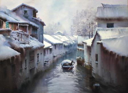Wendy Liang, Winter, American Frame/Golden Artist Colors, Inc.