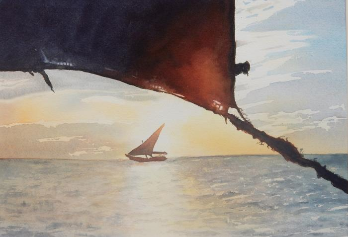 Yvonne Newhouse, Dhow at Sunset