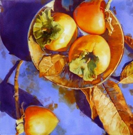 Linda Erfle, Persimmons at Sunrise, ColArt Americas Inc. Award - 45th National Exhibition