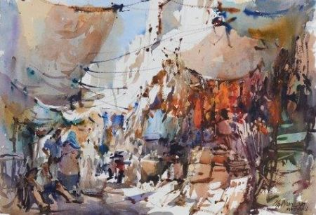 Woon Lam Ng, Market Place, Holbein Artist Award - 45th National Exhibition