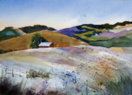 Carol Husslein, Off in the Distance, Honorable Mention San Leandro Library Show 2013