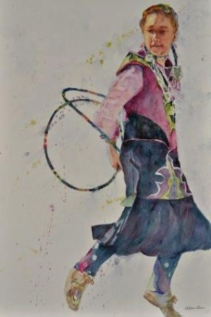 Colleen Dixon, Hoop Dancer II, Salis International Inc. Award 1 - 45th National Exhibition