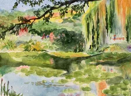 Carol Husslein, Giverny Waterlily Pond 2