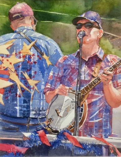 Judy Rowe, Banjo Man, 1st Place Shower Us With Art